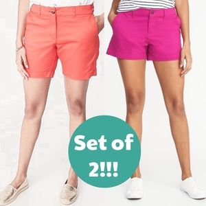 Set of 2 Old Navy Twill Everyday 5inch IS Shorts